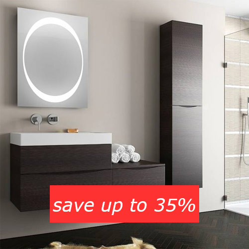 Save up to 35% on bathroom furniture in the Summer Sale