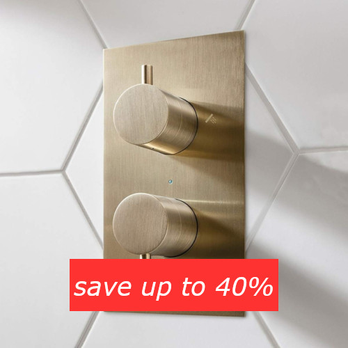 Save up to 40% on shower valves in the Summer Sale
