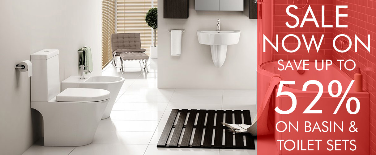 Save up to 52% on our basin and toilet package sets