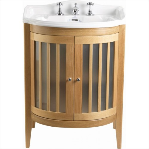 Imperial Bathrooms - Linea Vanity Unit With Wooden & Glass Doors (Colour Options)
