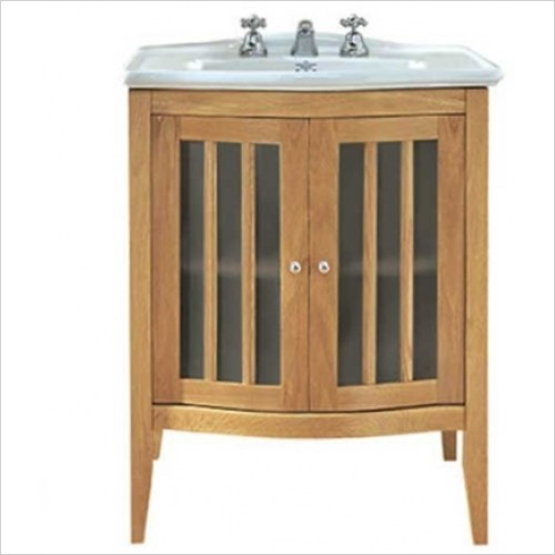 Imperial Bathrooms - Linea Floorstanding 2 Door Vanity Unit (Multiple Colours)