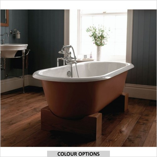 Imperial Bathrooms - Bentley Madera Cast Iron Double Ended Bath With Cradles