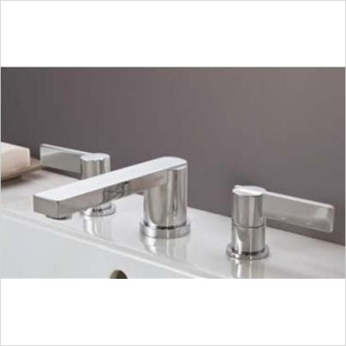 Matki - Blade Three Hole Basin & Bath Filler With 130mm Spout