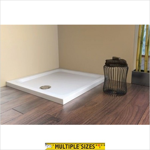 Matki - Fineline 60 Raised Square Tray - 2 Upstands - 800 x 800mm
