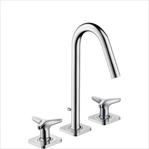 Hansgrohe - Axor Citterio M Star Handle 3 Hole Basin Mixer With Plate