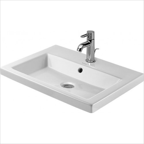 Duravit - 2nd Floor Inset Basin 600 x 430mm With 1 Tap Hole