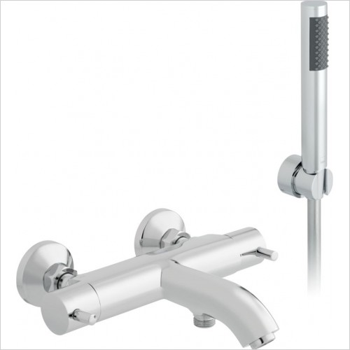 Vado - Celsius Wall Mounted Thermostatic Bath Shower Mixer With Kit