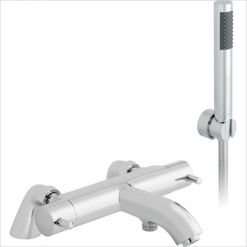 Vado - Celsius Deck Mounted Thermostatic Bath Shower Mixer & Kit