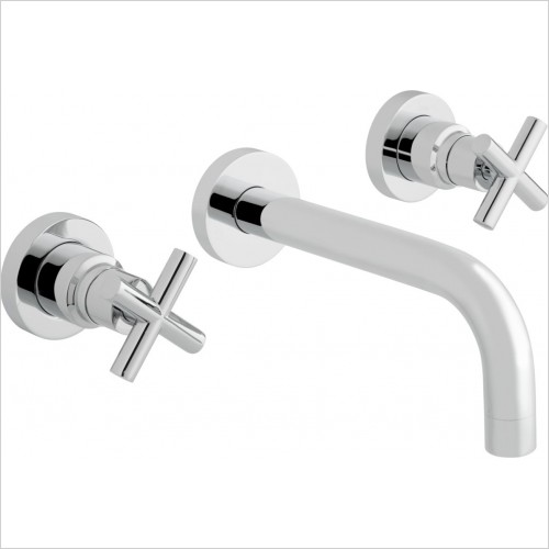 Vado - Elements Wall Mounted Bath Mixer With 200mm Spout