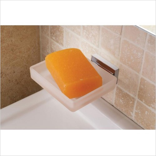 Vado - Level Frosted Glass Soap Dish & Holder