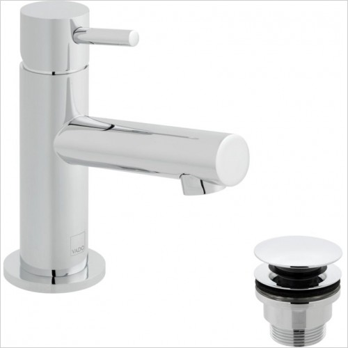 Vado - Zoo Mini Mono Basin Mixer With Universal Waste