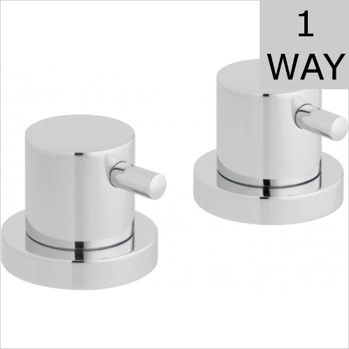 Vado - Zoo Pair Of Deck Mounted Stop Valves