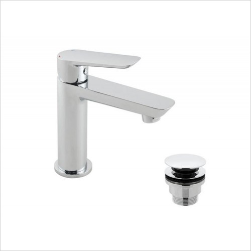 Vado - Photon Mini Mono Basin Mixer With Universal Waste