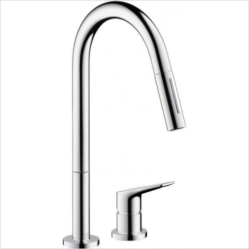 Hansgrohe - Citterio M 2-Hole Kitchen Mixer With Pull Out