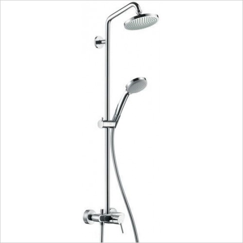Hansgrohe - Croma 100 1Jet Showerpipe With Single Lever Mixer