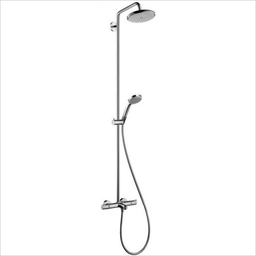 Hansgrohe - Croma 220 Showerpipe For Bath Tub With Shower Arm