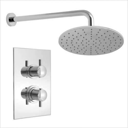 Park Street Bathrooms - Concealed Thermostatic Overhead Shower Kit 2