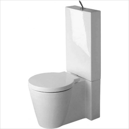 Duravit - Starck 1 Close Coupled Back To Wall Toilet