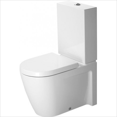 Duravit - Starck 2 Close Coupled Back To Wall Toilet