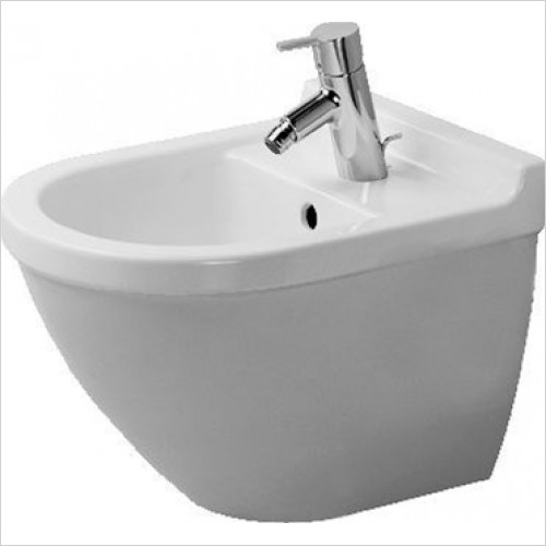 Duravit - Starck 3 Wall Mounted Compact Bidet With Concealed Fixings