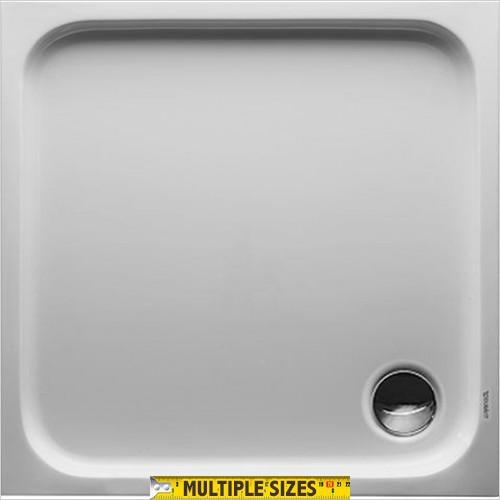 Duravit - D-Code Shower Tray 800x800mm Square Outlet Diam 90mm
