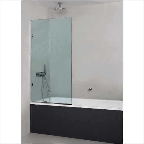 The Shower Lab - Osmium Square Fixed Bath Screen - 1000mm