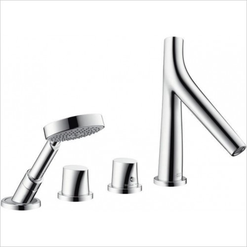 Hansgrohe - Axor Starck Organic 4 Hole Thermostatic Bath Mixer For Tile
