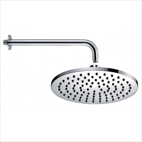 Park Street Bathrooms - Luxury 200mm Round Overhead & Wall Arm