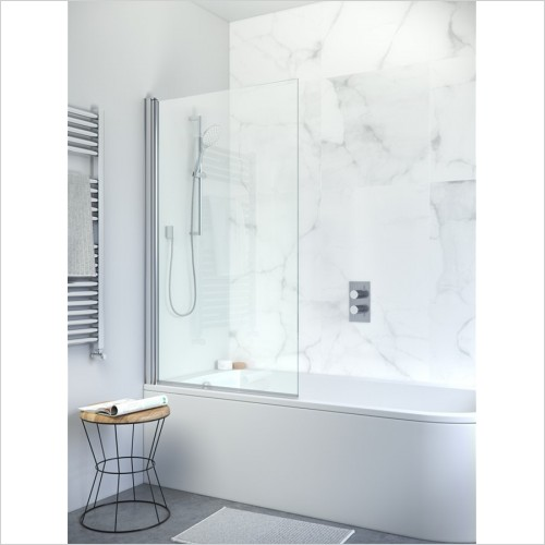 Crosswater - Design 8 Single Panel Bath Screen