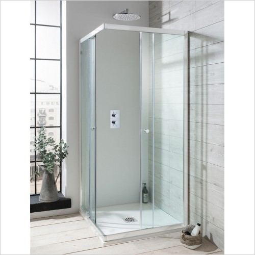 Crosswater - Edge Corner Entry Shower Enclosure - 760 x 760mm