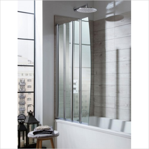 Crosswater - Edge Foldaway Bath Screen 830mm