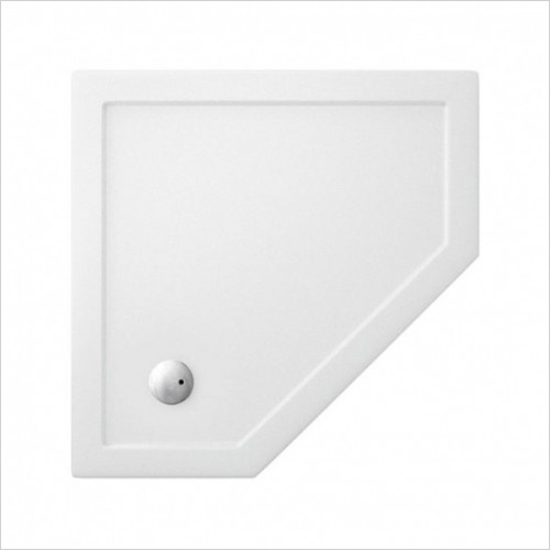 Crosswater - 35mm Acrylic Pentagon Shower Tray - 900 x 900mm