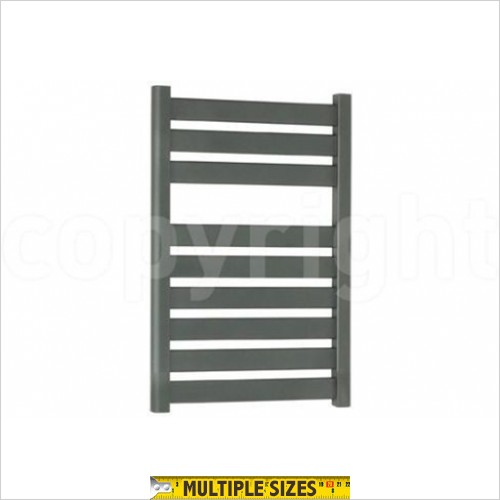 Crosswater - Edge Anthracite Flat Panel Towel Warmer 500 x 720mm