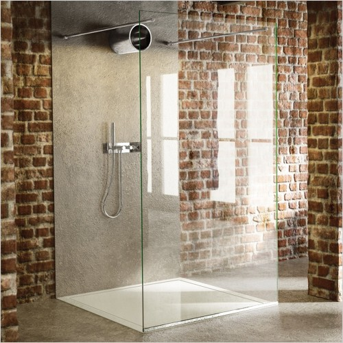 The Shower Lab - Tantalum 20 Freestanding Fixed Panel - 1200mm