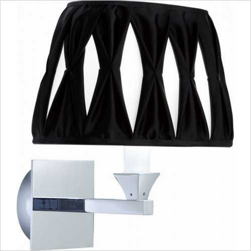 Imperial Bathrooms - Astoria Wall Lamp With Oval Thick Pleated Silk Shade