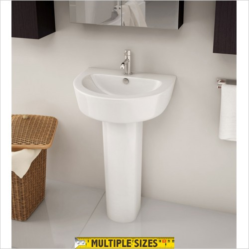 Park Street Bathrooms - Dream 550 X 440mm Basin With Full Pedestal