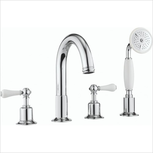Crosswater - Belgravia Lever 4 Hole Bath Set With Kit