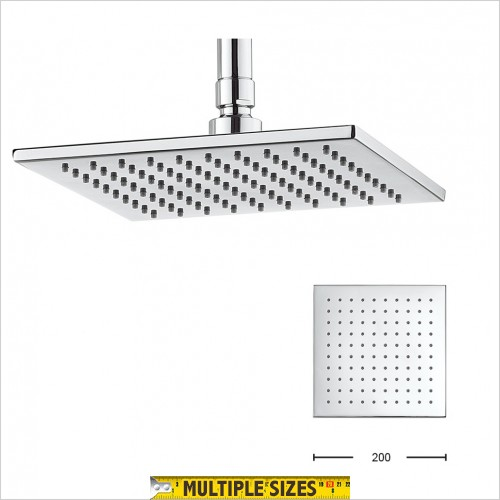 Crosswater - Zion 200mm Square Overhead Shower