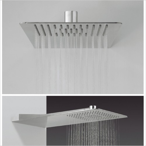 Crosswater - Glide Rectangular 550 x 200mm Overhead Shower