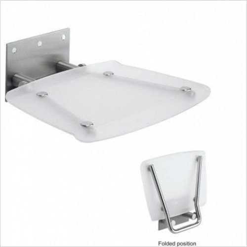 Crosswater - Square Wall Mounted Shower Seat