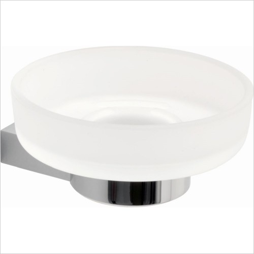 Vado - Infinity Frosted Glass Soap Dish & Holder
