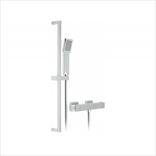 Vado - Te Exposed Thermostatic Shower Rail Kit Package