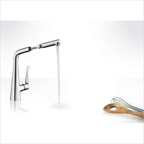 Hansgrohe - Metris Single Lever Kitchen Mixer With Pull-Out Spout