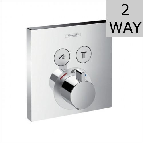 Hansgrohe - Shower Select Concealed Thermostatic Valve For 2 Outlets