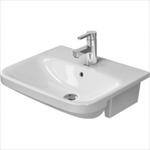 Duravit - DuraStyle Semi Recessed Washbasin 550 x 455mm