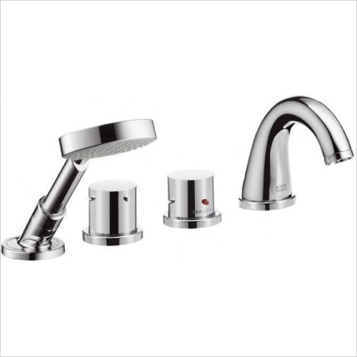 Hansgrohe - Axor Starck Thermostatic 4 Hole Bath Shower Set For Bath Rim