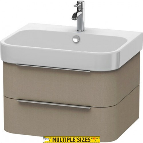 Duravit - Happy D.2 Vanity Unit With 2 Drawers For 650mm Basin