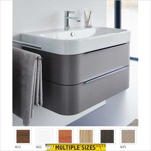 Duravit - Happy D.2 Vanity Unit With 2 Drawers For 1000mm Basin