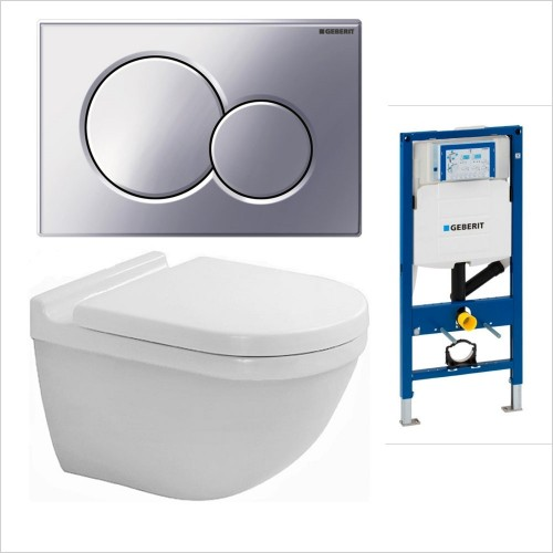 Duravit - Starck 3 Wall Hung WC / Geberit 1.12 Sigma01 Pack