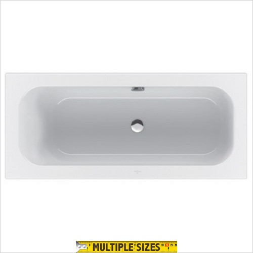Villeroy & Boch - Loop & Friends Square Duo Bath 1600 x 700mm